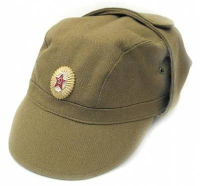 Soviet officer baseball style cap with earflaps