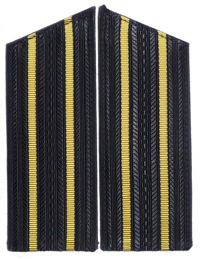 Ship crew officer shoulder boards