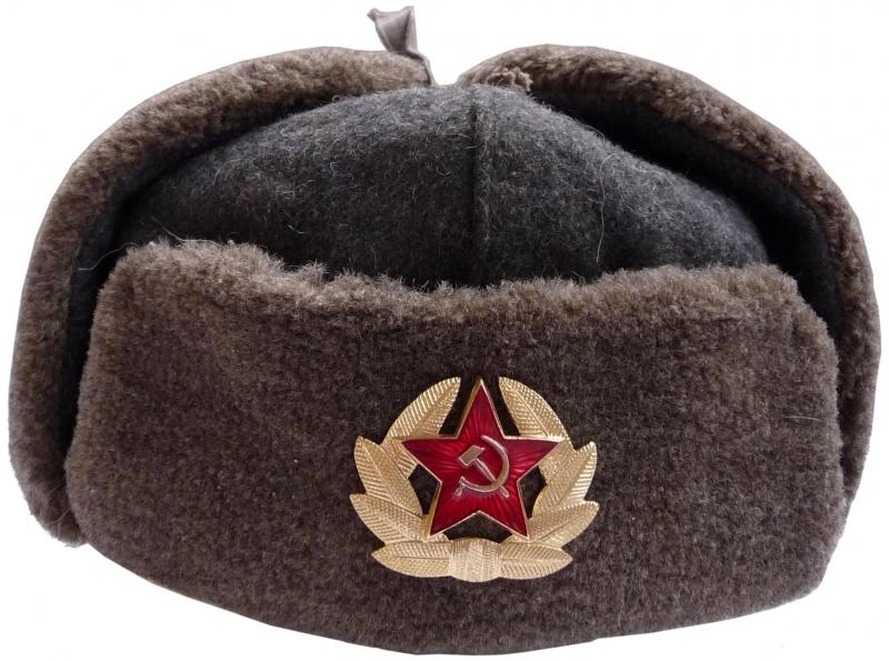 129fed69ee7 Bulgarian army soldier winter hat - Soviet WW2 model.