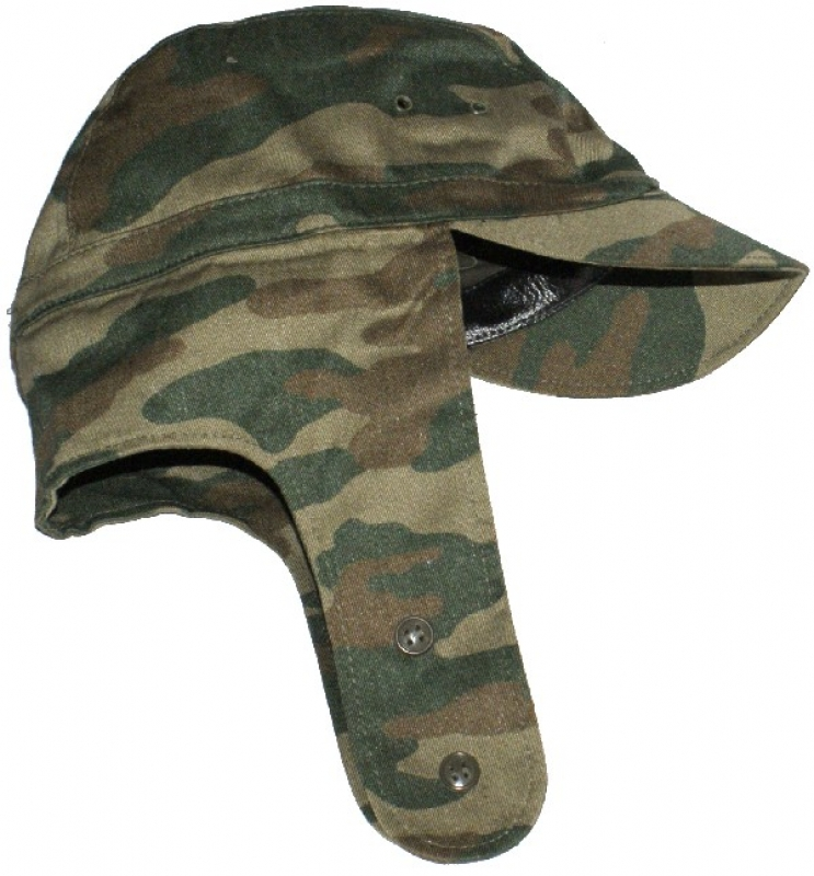 Russian officer camo field cap with earflaps d8c30c94ff2