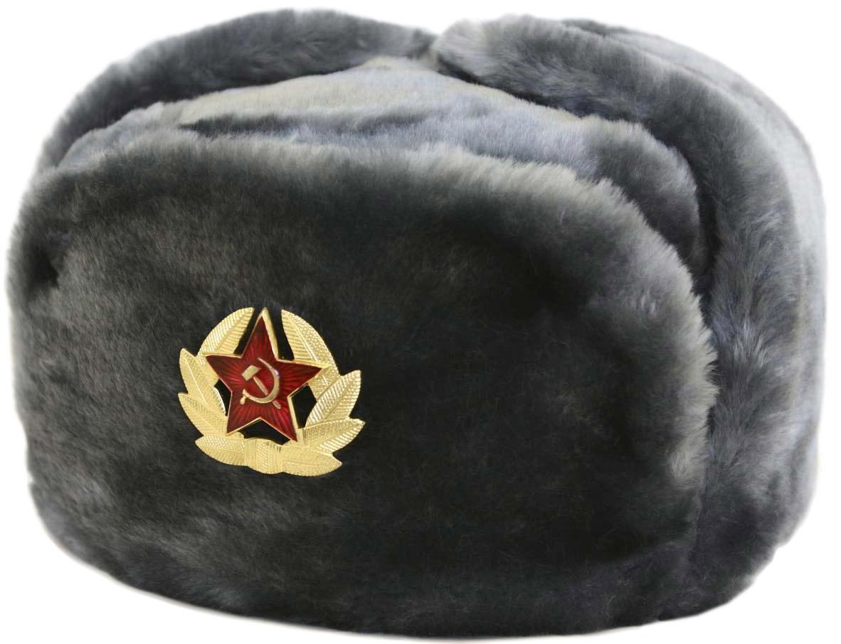 ebcecc51783 Russian ushanka winter hat. Gray.