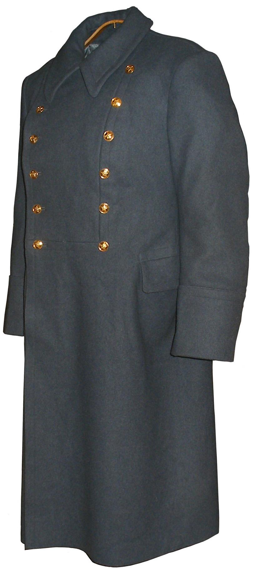 Soviet officer light grey wool overcoat