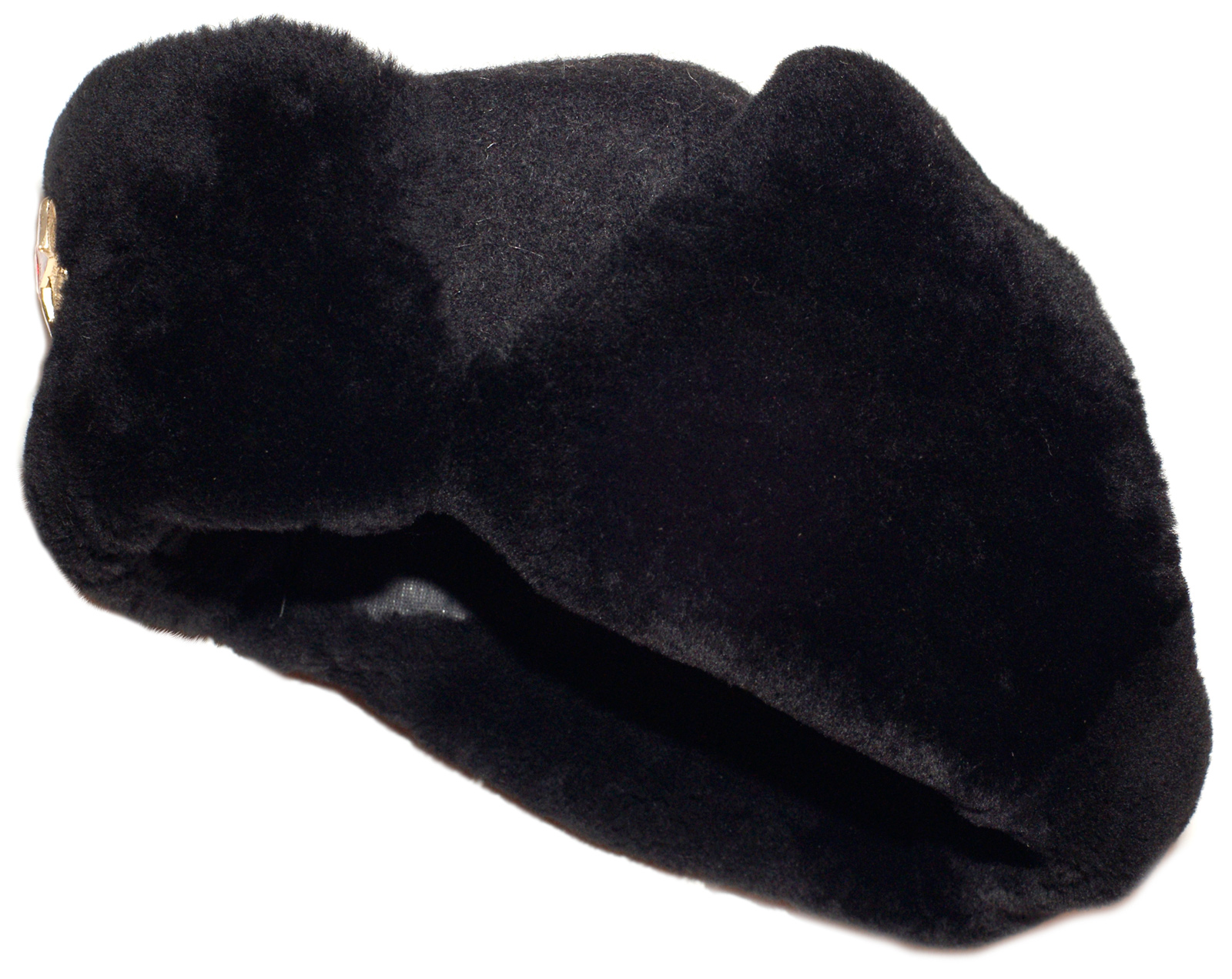 Navy officer of the Russian Federation mouton ushanka hat. Current ... fd3f9043307